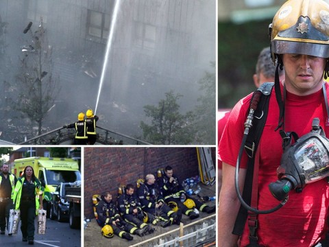 In pics: The incredible firefighters who've been battling the Grenfell blaze for 12 hours
