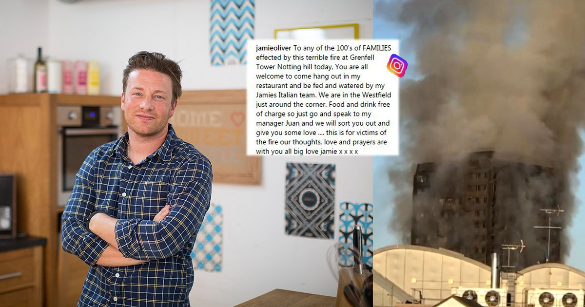 Jamie Oliver's chefs are still cooking for Grenfell Tower victims and have served 500 meals so far