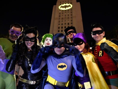 Amazing sight as Los Angeles pays tribute to Adam West by projecting giant Bat-signal