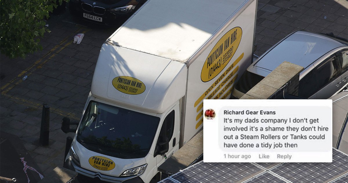 Son of Finsbury Park van hire company owner says: 'It's a shame they don't hire out tanks'