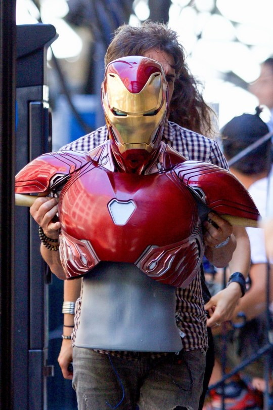 Iron Man gets a new suit in set pictures from Avengers