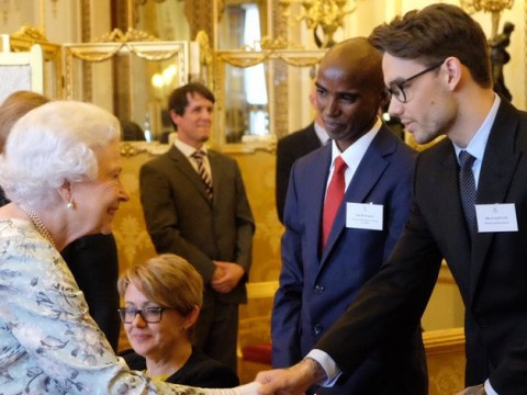 Liam Payne meets the Queen but everyone's more obsessed with how much his glasses make him look like Harry Potter