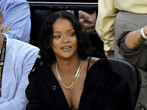 Rihanna continues to slay as she dabs on all her haters at the NBA Finals Game
