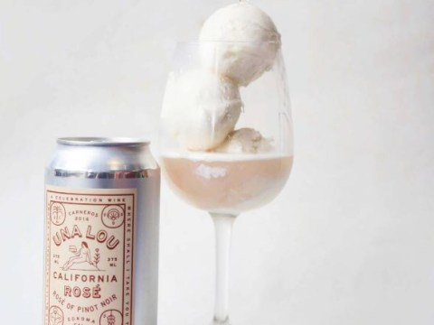 Rosé ice cream is here to dominate your wine game this summer
