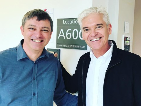 Phillip Schofield pays emotional visit to the 'angels' at the NHS who saved his brother's life