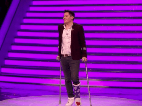 Take Me Out sees first ever contestant come down the lift on crutches – and his determination is admirable