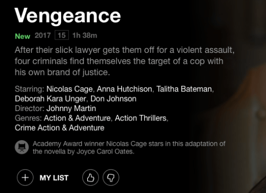 Ranking the 11 Nicolas Cage films on Netflix UK by their