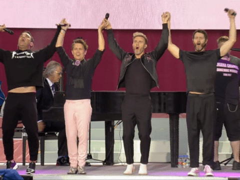 Take That reunited with Robbie Williams for One Love Manchester before star's emotional Angels performance