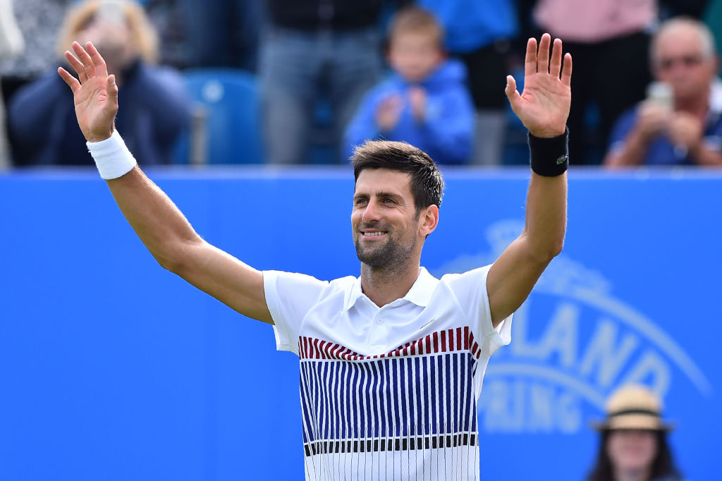 Novak Djokovic wins title on Eastbourne debut in perfect Wimbledon warm-up as Karolina Pliskova also comes out on top