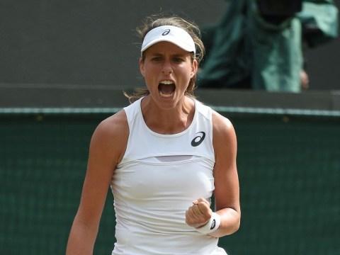 Johanna Konta steps up to Wimbledon favourite tag with brutal demolition of Maria Sakkari