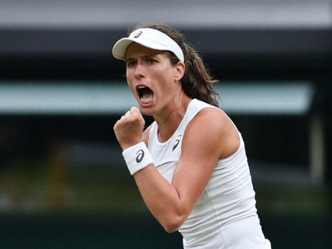 Johanna Konta becomes first British woman in Wimbledon semi-finals for 39 years after Simona Halep win