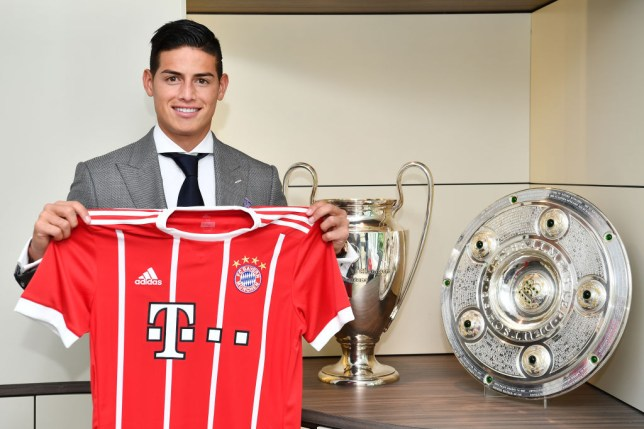 b72237664bb James Rodriguez joined Bayern Munich on loan yesterday (Picture: Getty). Real  Madrid ...