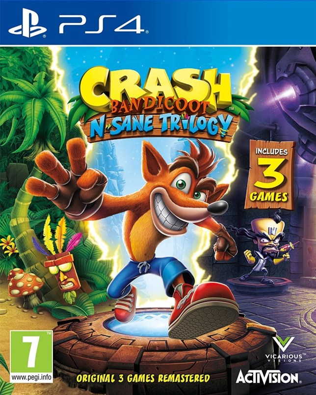 Third week at UK number one for Crash Bandicoot – Games