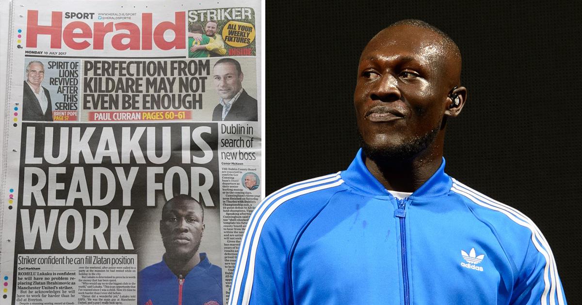 Irish newspaper error confuses Romelu Lukaku and Stormzy