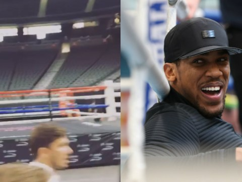 Eddie Hearn has tour of T-Mobile Arena in Las Vegas as possible venue for Anthony Joshua fight