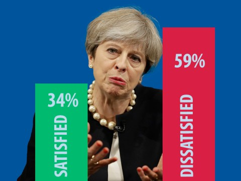 Theresa May has worst post-election satisfaction ratings of all time