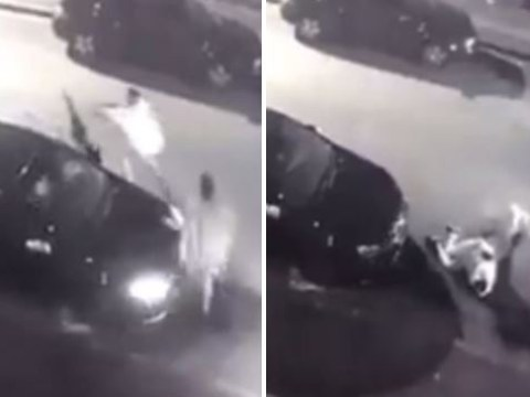 Man tries to fight off carjackers who are attempting to steal his VW Golf