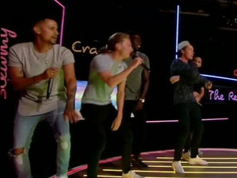 Blazin' Squad surprise Marcel Somerville by reuniting on the Love Island reunion show