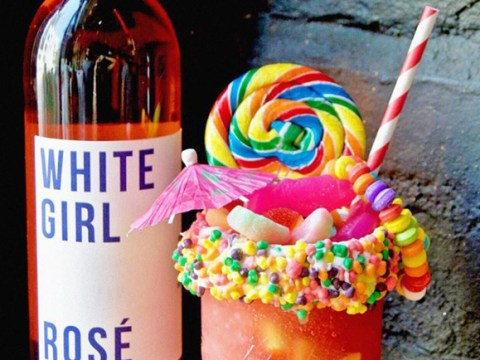 Introducing the frosé freakshake: A mountain of frozen rosé and sweet treats