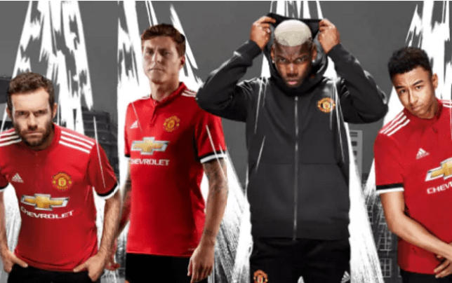 release date: be411 84207 Manchester United to wear 2017/18 home kit for first time ...