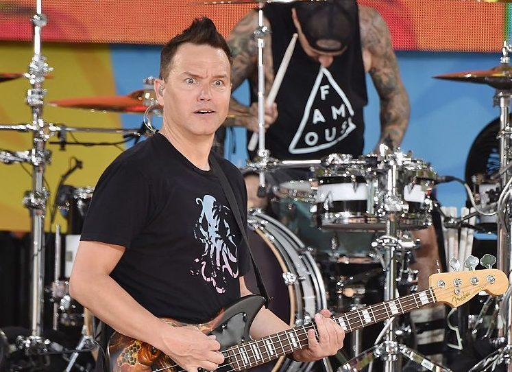 Blink 182 fans wearing Blink 182 merch fail to recognise bassist Mark Hoppus when he speaks to them
