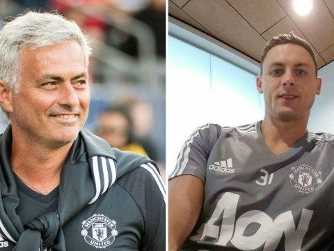 Deal close? Fans go into meltdown as Nemanja Matic is pictured in Man Utd training kit