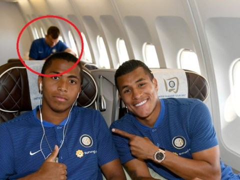 Waiting for Mourinho's call? Ivan Perisic looks sad and lonely on Inter's pre-season flight