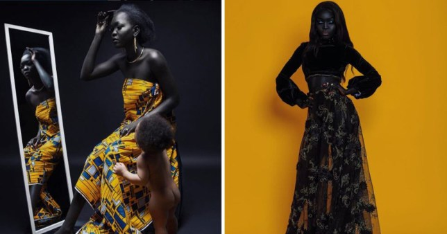 The dark model breaking down the barriers of conventional beauty