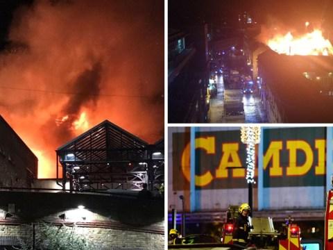 Huge fire rips through Camden Lock Market