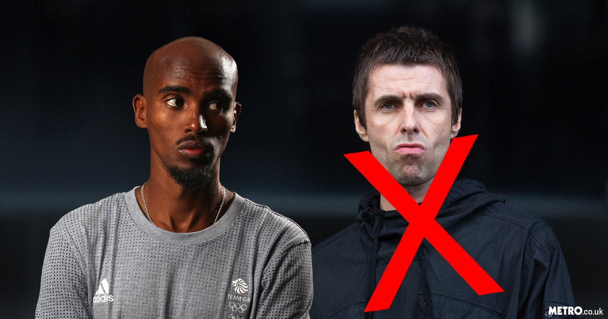 Mo Farah mistakes Noel Gallagher for brother Liam at U2 concert, Liam gives priceless reaction