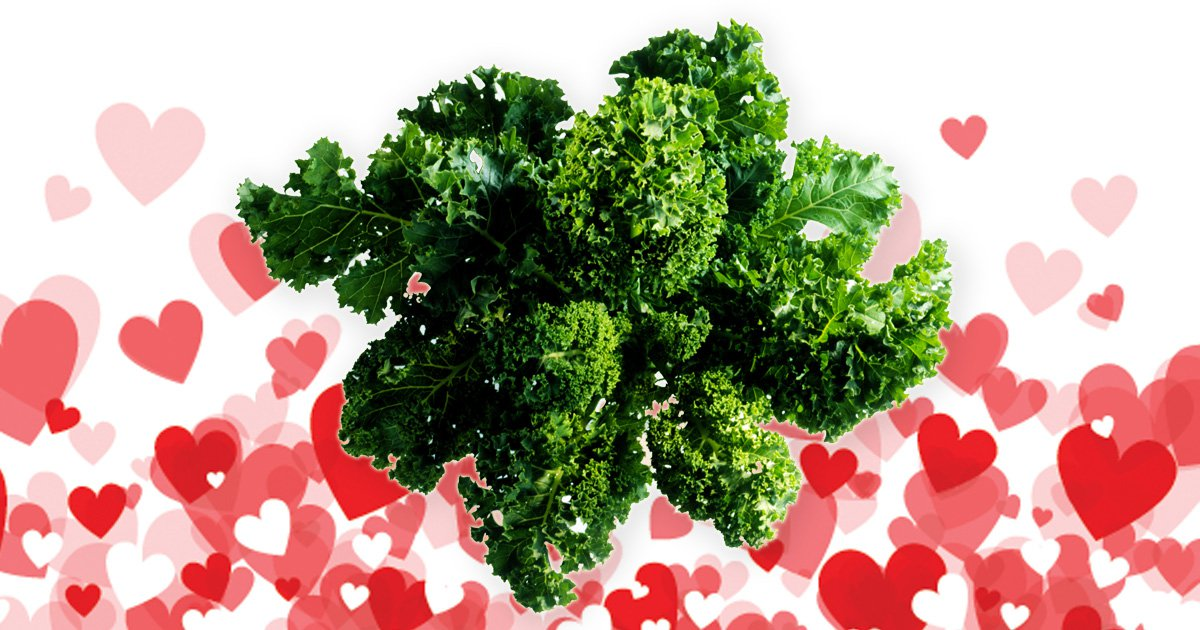 A guy bought his vegan date some kale and we're not sure if it's cute or kind of insulting