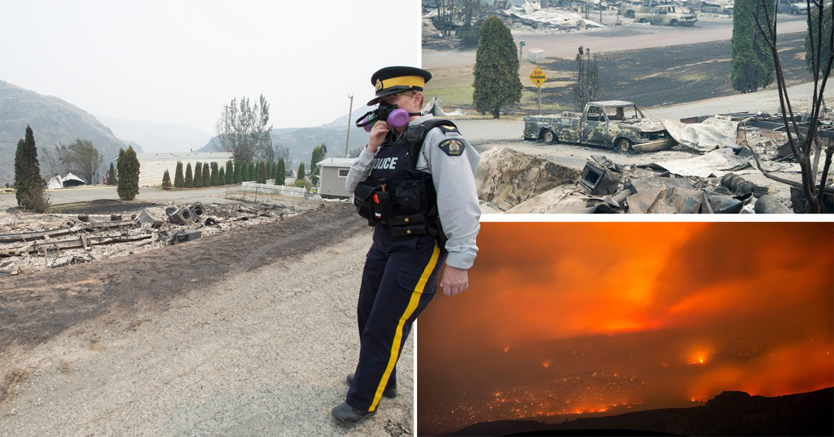 Wildfires rip through Canada forcing almost 40,000 to flee their homes