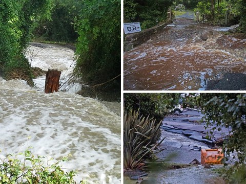 Dozens of homes evacuated after extreme flash floods hit Cornwall