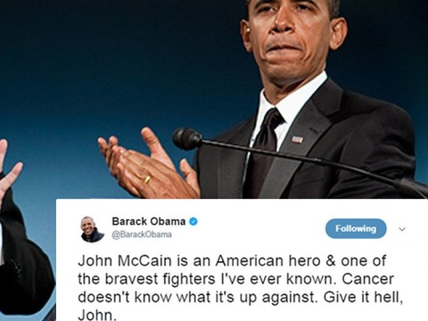 Obama says 'cancer doesn't know what it's up against' in support of John McCain