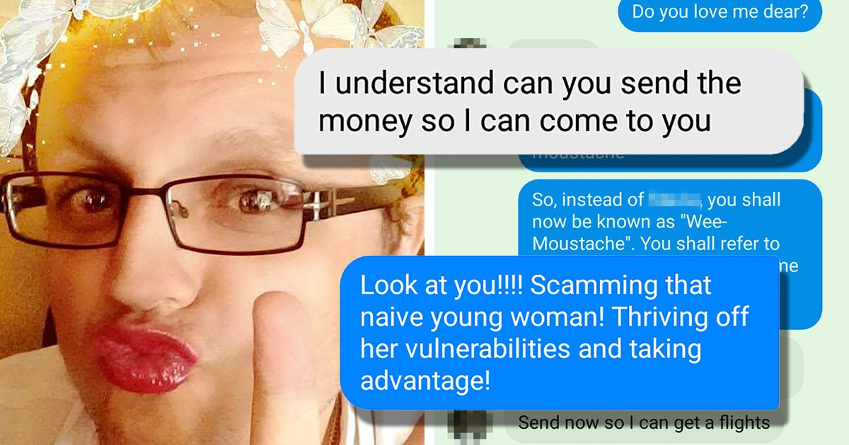 Dad banned from Facebook after posing as woman to trick online scammer