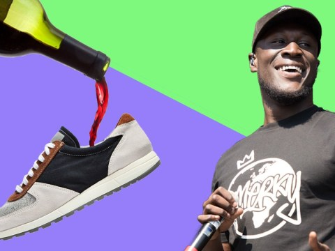 Stormzy just drank alcohol from his sweaty shoe live on stage and then live-tweeted it