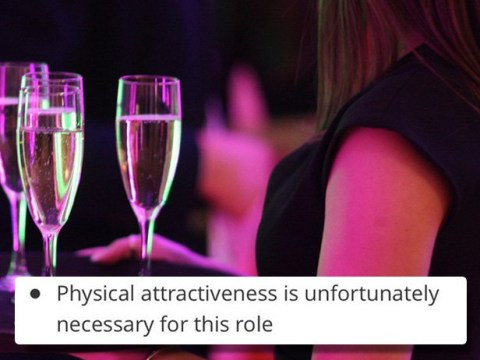 Sorry ugly people, this bar will 'unfortunately' only hire 'attractive' staff