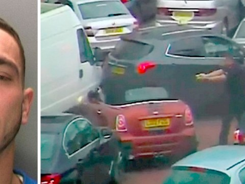 Car thief tries – and fails – to ram his way through traffic jam