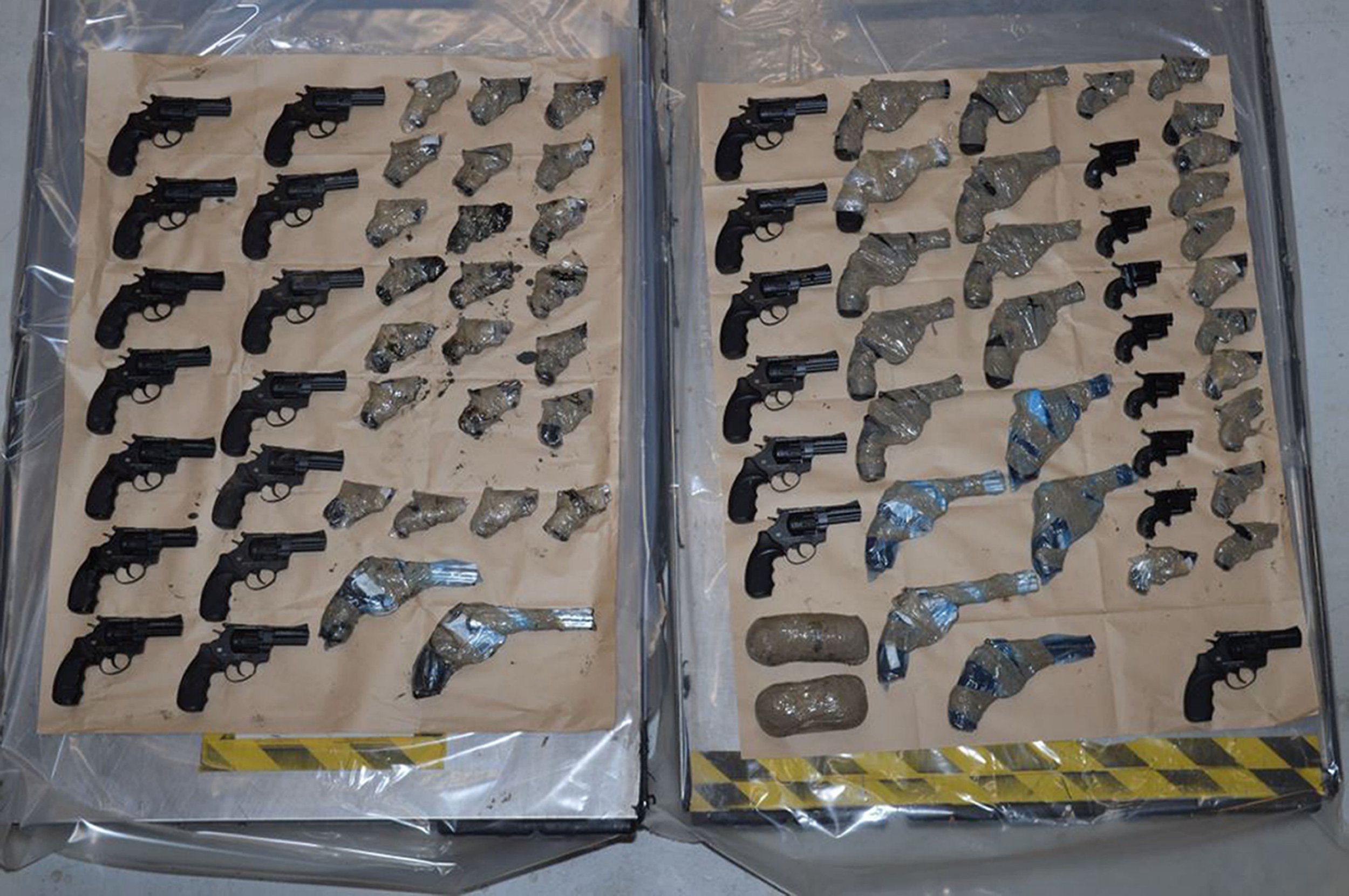 Huge guns haul found in lorry trying to enter Britain