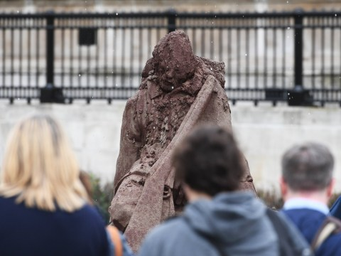Sculpture made from mud of Passchendaele melts to show horrors of war