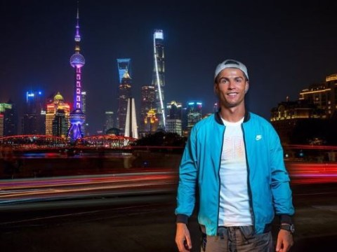 Cristiano Ronaldo in China as Real Madrid team-mates take on Manchester United