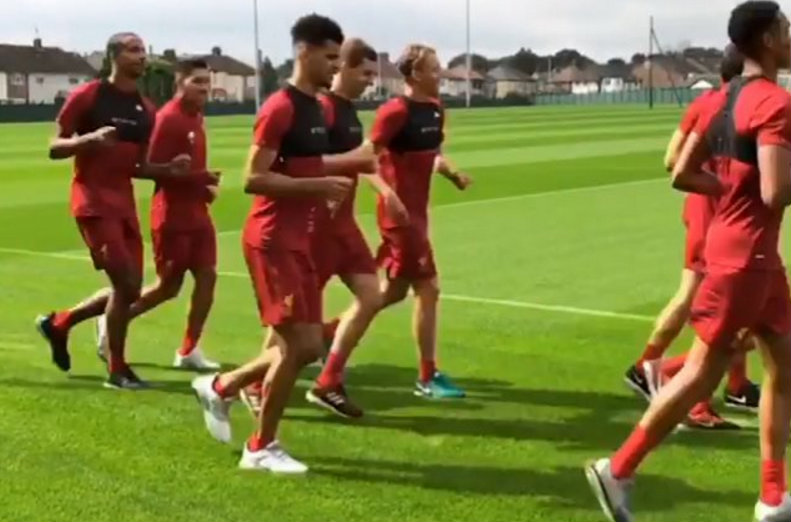Dominic Solanke in Liverpool pre-season training after completing Chelsea transfer