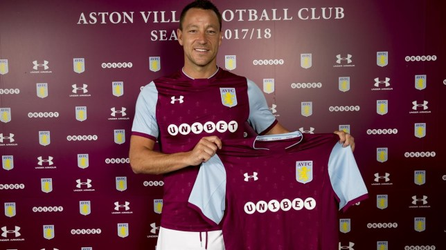 11d113034d7 John Terry unveiled by Aston Villa after completing transfer move ...