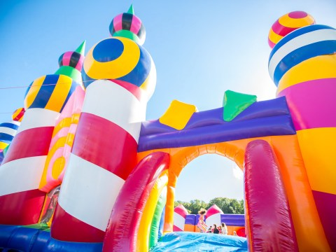 The world's biggest bouncy castle is coming to the UK next month and you're all invited
