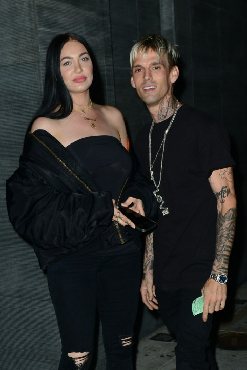 Aaron Carter spotted with Porcelain Black after receiving support for coming out as bisexual