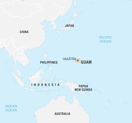Where is Guam and why is North Korea threatening it? | Metro ... on world map with guam labeled, world map showing guam, world map guam wake island hawaii, world map guam geography, world map guam date, world map with guam and hawaii, world map saipan guam rota tinian, world map pacific islands guam,