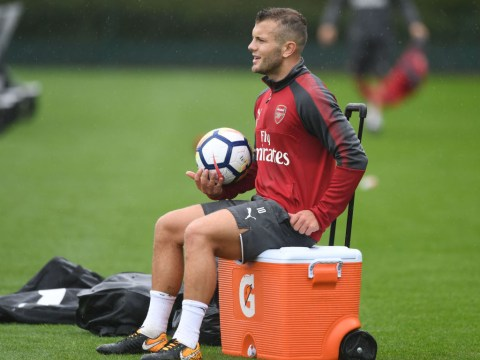 Jack Wilshere resorts to cheating as Arsenal team-mates tease him in training