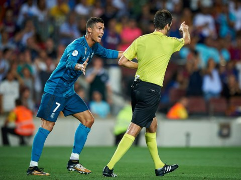 Real Madrid star Cristiano Ronaldo could be hit with 12-game ban for shoving referee