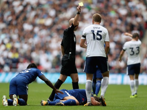 Worse than Gary Cahill's red card? Chelsea fans report Eric Dier to FA for 'awful' David Luiz tackle