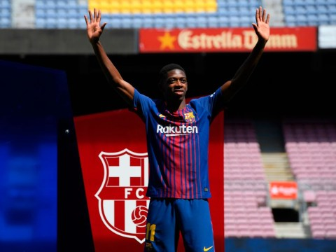 Ousmane Dembele delighted to join 'best club in the world' after Barcelona complete £135m deal